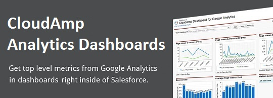 Salesforce Dashboard for Google Analytics by CloudAmp